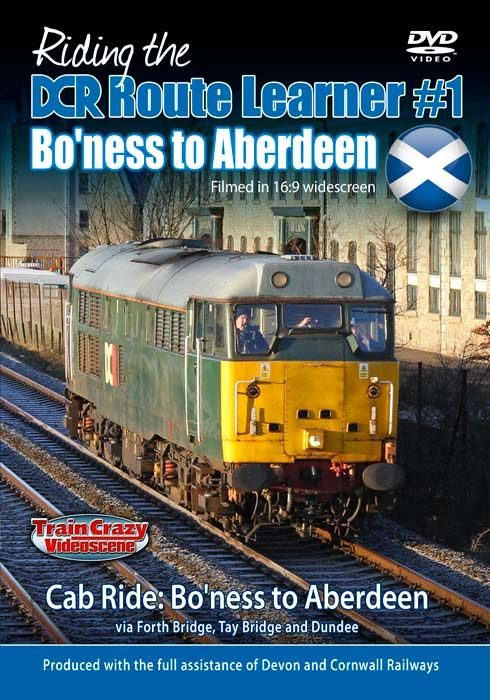 Riding the DCR Route Learner #1 - Bo�ness to Aberdeen  (145-mins) (DVD-R) (16:9 Widescreen)